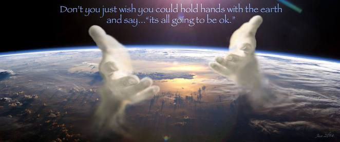 Hold hands with the earth