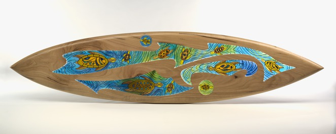 encounters, national museum of australia, canberra, peter farmer, kim fitzpatrick, wood surfboard,