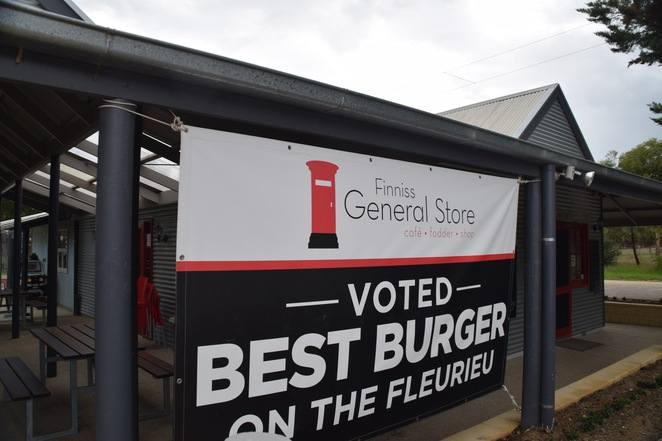 Finniss General Store, Finniss Cafe, Finniss Railway Station, Finniss Post Office, Best Burger on the Fleurieu, Steamranger, Finniss Markets