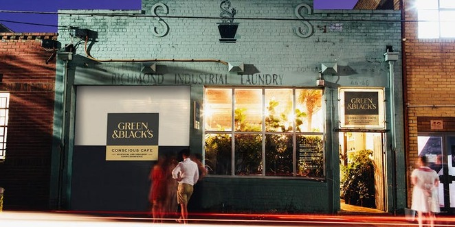 Glasshaus Cremorne Pop-up Green and Black Chocolate dinner