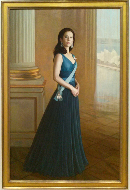 Her Royal Highness Princess Mary of Denmark by artist Jiawei Shen (2005). national portrait gallery, canberra, ACT,
