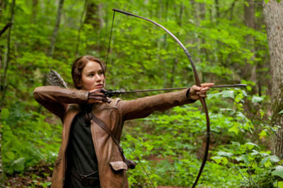Katniss Everdeen (Jennifer Lawrence) in the Hunger Games
