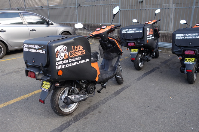 Little Caesars Moped Delivery Service
