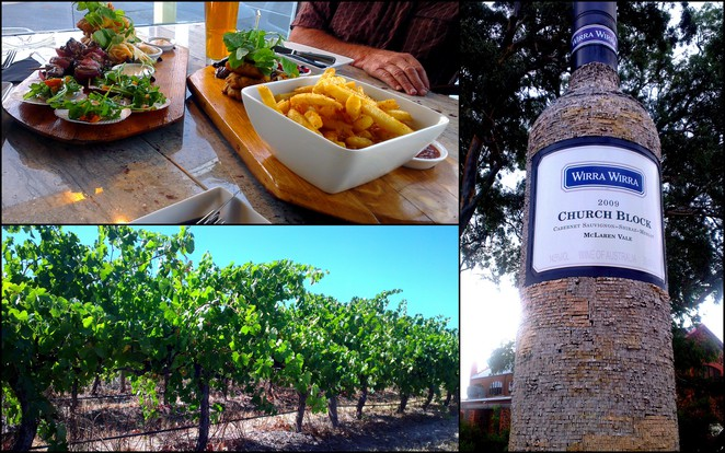 mclaren vale, south australia, southern vales, wirra wirra winery, the artel restaurant, grape vines, vineyard