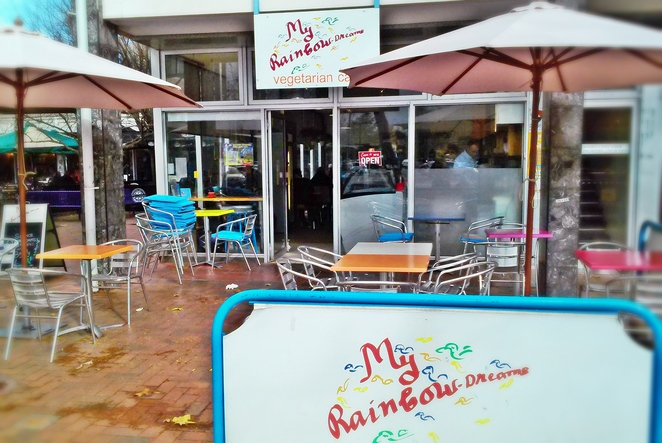 my rainbow dreams, dickson, canberra, ACT, vegetarian, cafes, lunch, breakfast