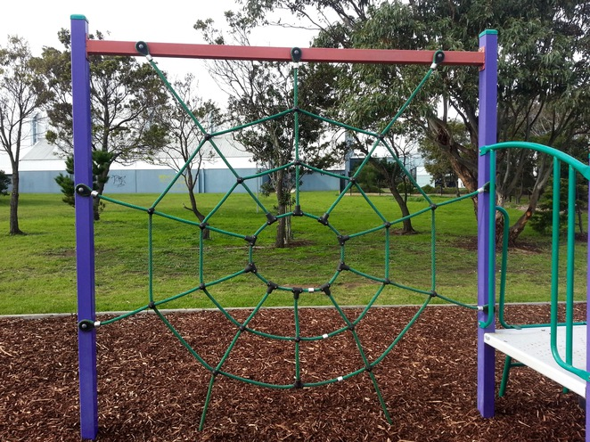 Ocean Grove Recreation Reserve Playground, Spiderweb, rope climbing structure