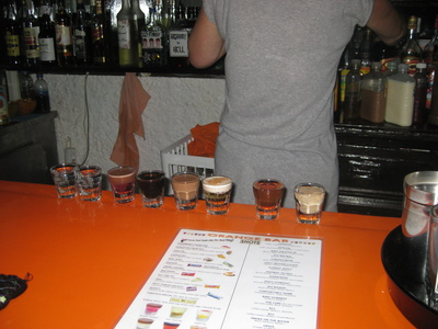 Orange bar shooters