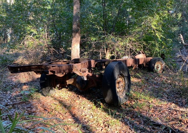 Rusty traces of the Redlands' past are visible within the Pinklands Bushland Refuge
