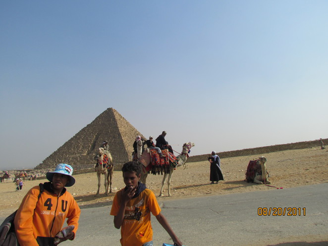 Scene Around the Pyramids