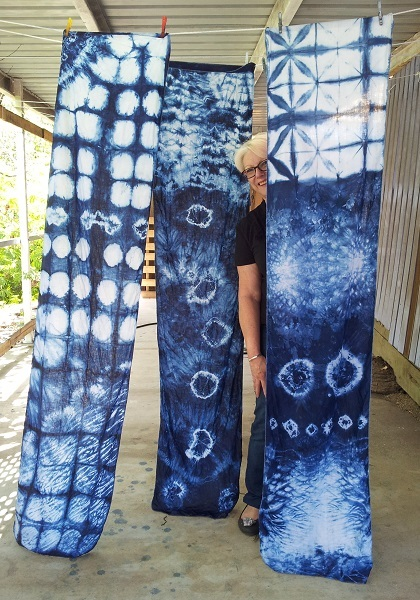 shibori, japanese, textiles, resist dyeing, exhibition, indigo, dye, may cross, ancient art