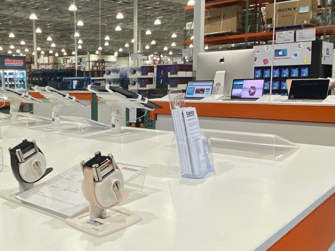 Smart devices and jewellery at Costco Wholesale