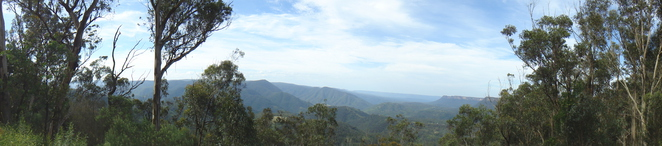 views to the blue mountains from Nattai National Park