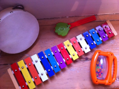 xylophone, cowbells, clackers, piano keys, black, white, music, instrument