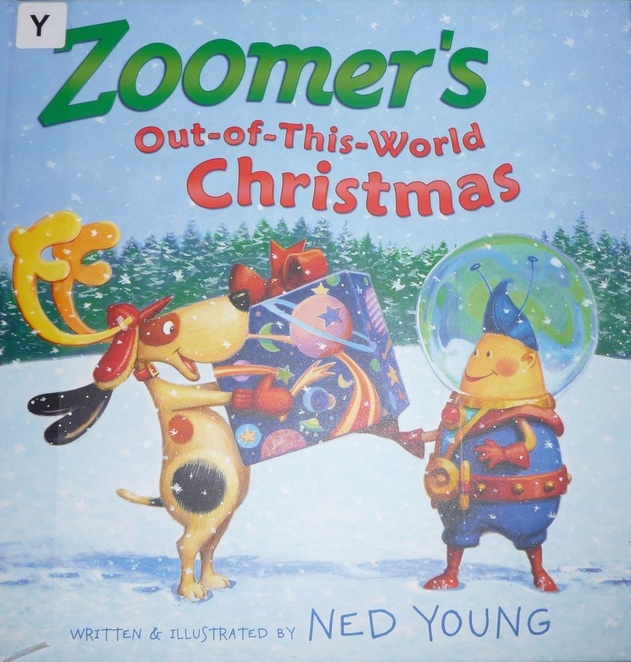 zoomer's out of this world Christmas, children's books, xmas books for kids