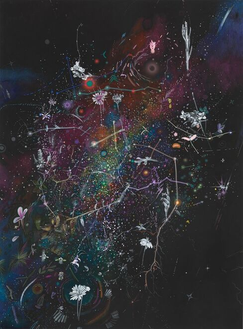 Image: Threatened Night, 2021 Louise Flaherty and Laura Wills pastel, pencil and pigment on rag paper 75 x 55cm Photograph Grant Hancock