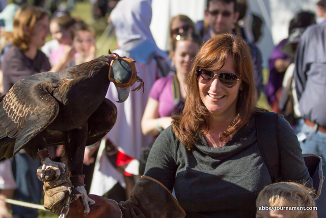 Abbey Medieval Festival falcons