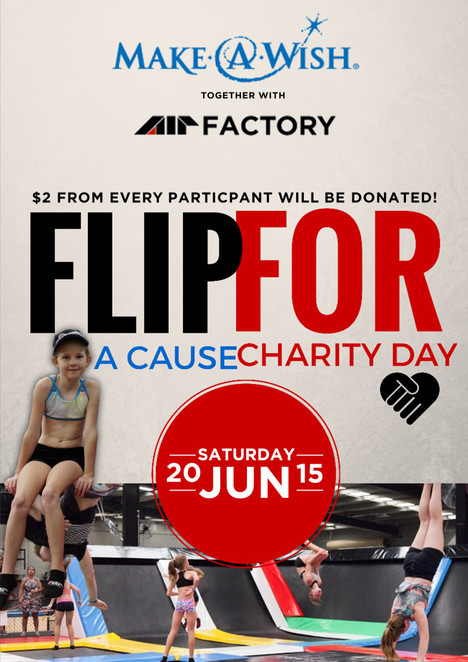 Air Community, Flip for a Charity, Gold Coast, Air Factory, Trampoline Park, charity, make-a-wish, children, fitness, fundraising,