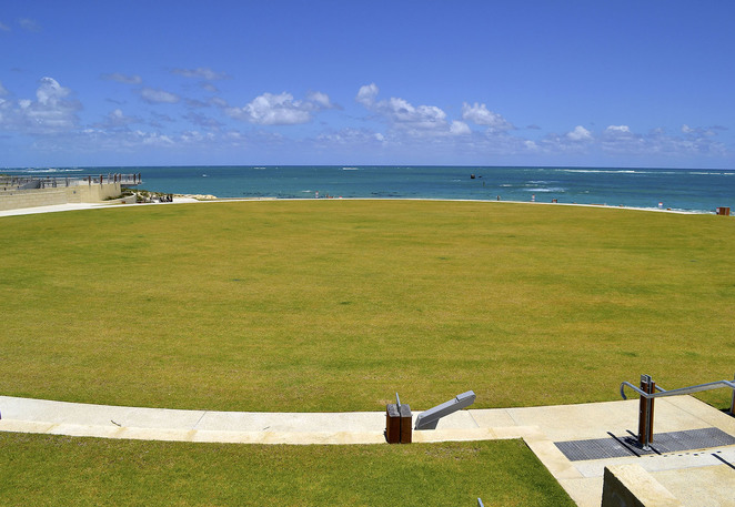 Alkimos Shorehaven north suburb Perth WA ocean beach green grass sports oval picnic waterfront park