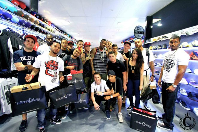 American rapper The Game visits Culture Kings Brisbane store