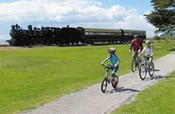 Riding on the Bellarine Rail Trail