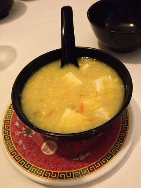 chicken and corn soup, corn, chicken, soup, chinese vegetarian, vegetarian, vegan, chinese vegan, vegan food, north melbourne, melbourne food, cheap eats, best vegetarian restaurant, corn soup, delicious, white lotus vegetarian restaurant