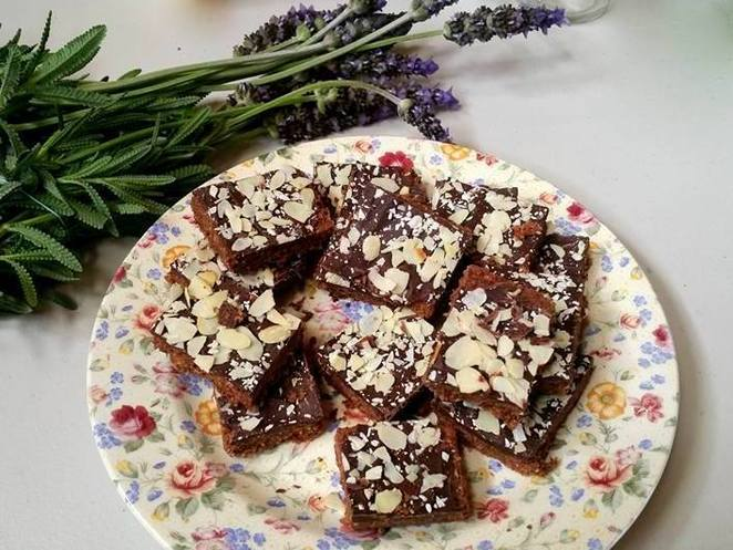 Chocolate Weetbix slice food swap