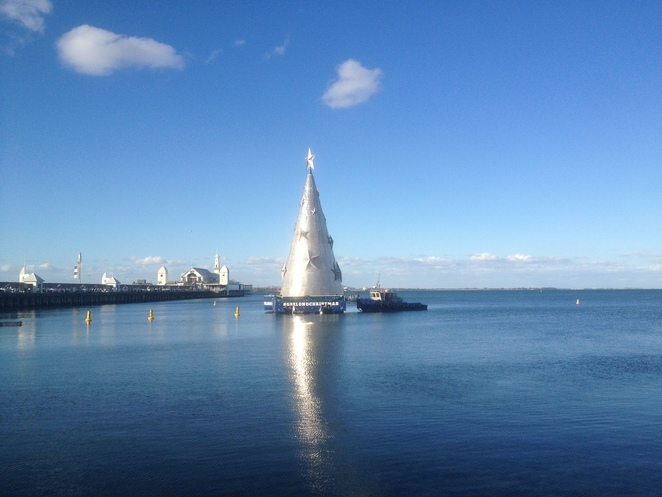 The Floating Christmas Tree, Geelong Waterfront