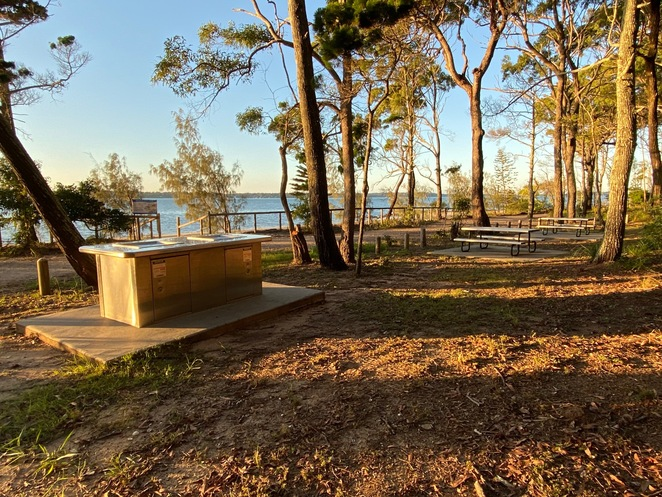 Electric BBQs and picnic tables are just some of the facilities provided at Norfolk Beach