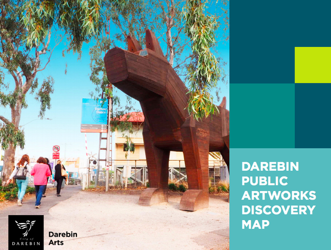 Darebin Public Artworks Discovery Map, walking trail, art discovery, Darebin, public art, melbourne