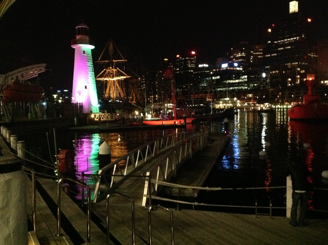 Darling Harbour during Vivid Sydney