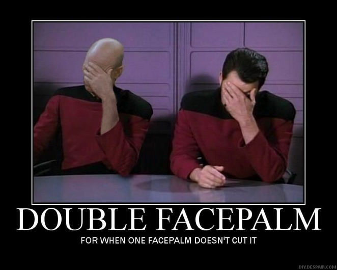 double, facepalm, star trek