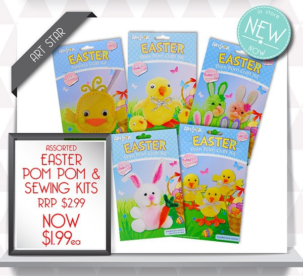Easter craft kits, Pom poms, riot art and craft