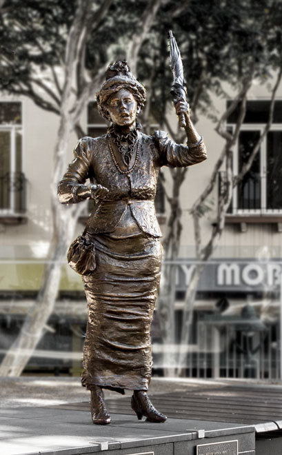emma miller, statue, anywhere, heritage, brisbane