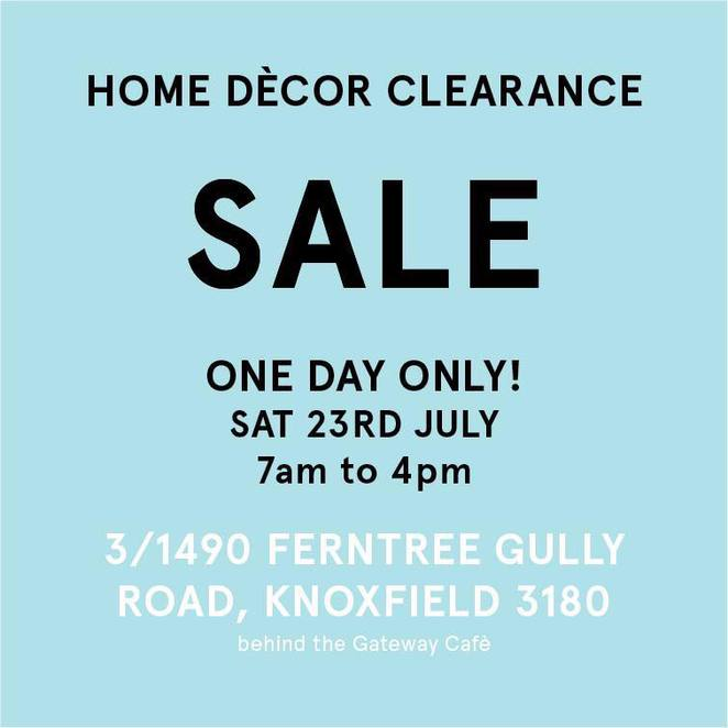 Homewares Sale Wall Décor, Cushions & Occasional Furniture 1 Day Only Clearance Sale