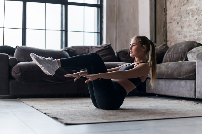Increase strength and fitness by working out at home