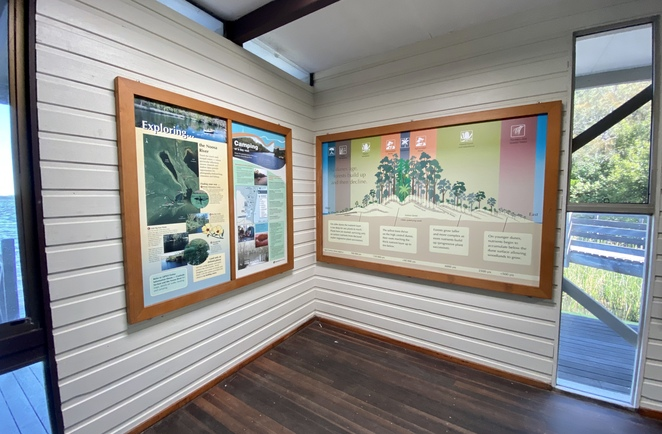 Some of the many displays in the Kinaba Visitor Information Centre