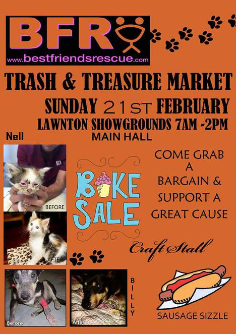 Lawnton trash and treasure market animal shelter support