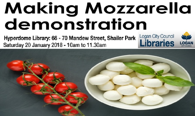 Making Mozzarella, Demonstration, Logan, Hyperdome, Library,