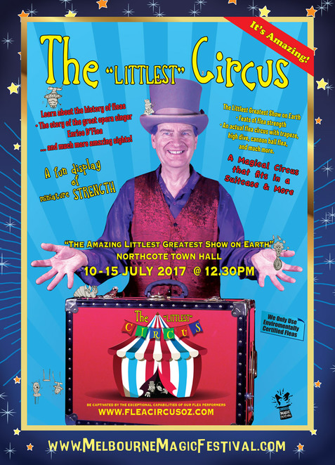 Melbourne Magic Festival,Robert Bremner,Ringmaster Rob,Magic Rob,ventriloquism,Flea Circus,Enrico D'flea,performing fleas,kids magicians,Festival Melbourne,