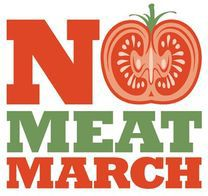 no meat march, meat free monday, vegetarian