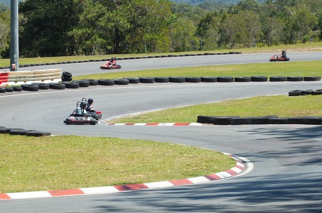Big Kart Track Sunshine Coast, need for speed, exhilarating thrill, Australia's largest commercial Kart track, 210cc/7HP @4500RPM, full-surround protection, head rest protection, four point racing harness, race by day, race by night under floodlights, special events, office party, birthdays, race heats, catering, Pit-Stop Cafe, wide verandah for viewers, Junior Track, helmets provided, enclosed footwear, open seven days a week, school holiday fun, adrenaline-junkie