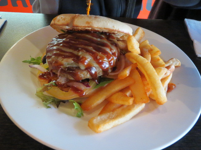 Outback Jacks Bar and Grill, Angus Bush Burger, Adelaide