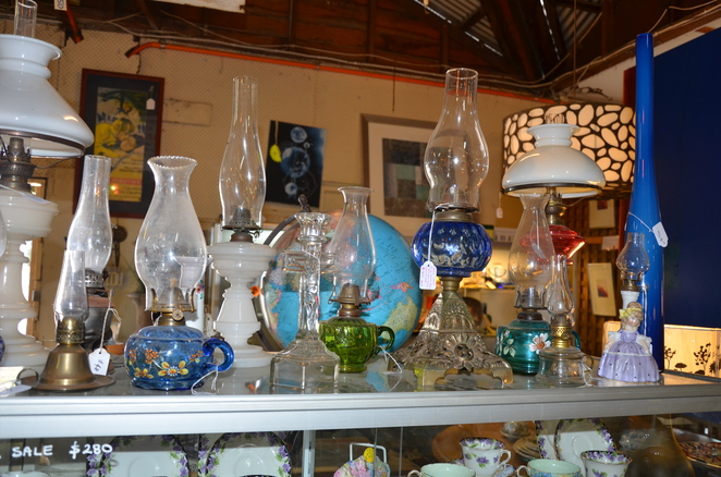 Rare Hand blown glass and lanterns