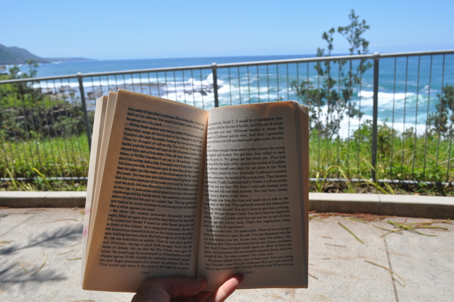 reading at Sea cliff bridge