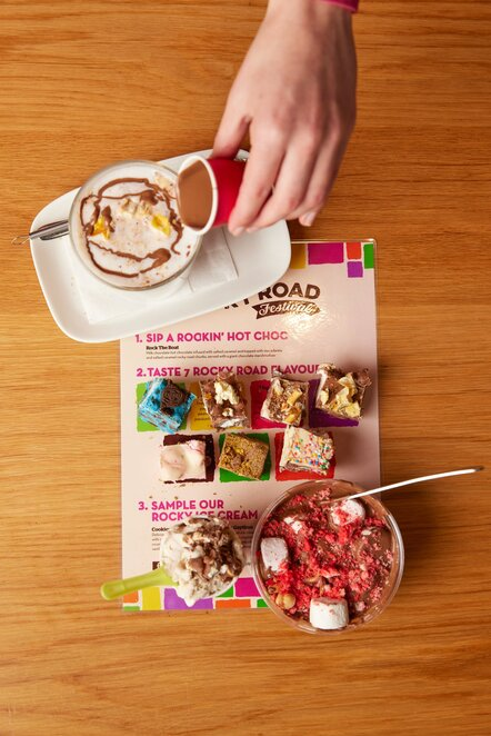 rocky road festival 2021, yarra valley chocolaterie, chocolate, shopping, dessert, 31 flavours of rocky road, restaurant, takeaway, ice creamery, rocky road festival box, celebrations, fun things to do