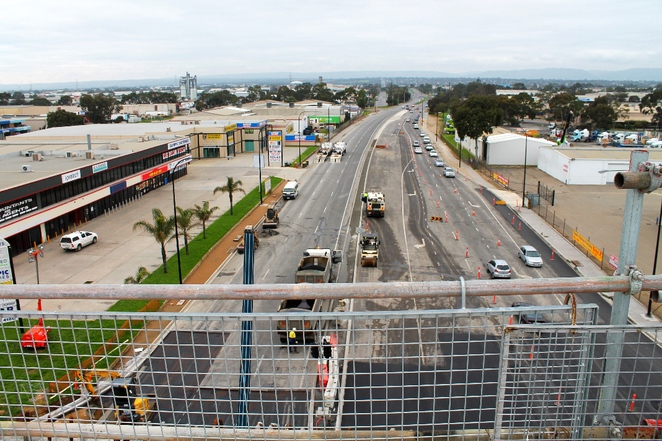 south road superway, superway, south australia, adelaide, construction, segments, roadway, road, traffic, grand junction road