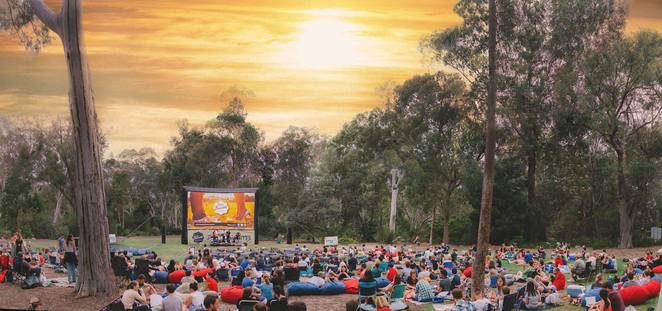 sunset cinema, canberra, 2018, movies, kids, school holidays, summer, ACT, lion king, family fun, activities, national australian botanical gardens, night, outdoor cinema,