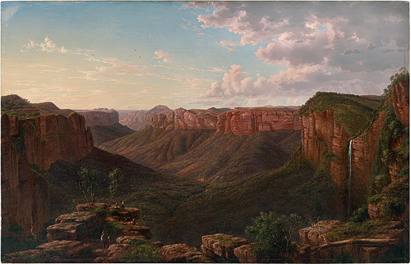 Govett's Leap and Grose River Valley, Blue Mountains, New South Wales 1873, oil on canvas, by Eugene von Guerard