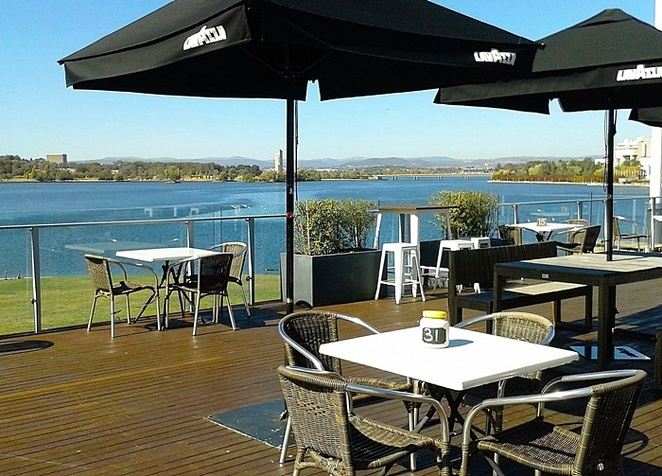 the deck, regatta point, canberra, views, lookout, cafe with views, ACT