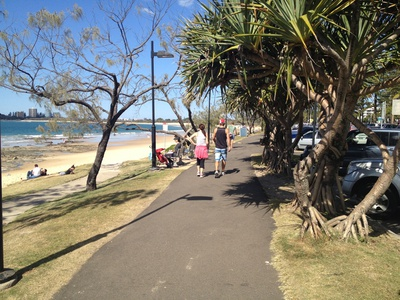 The footpath along side the beach